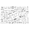 Beauty and fashion items set vector
