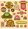 Farm logo labels and designs vector