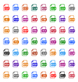 File type icons - color vector