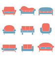 Sofa icons duotone vector