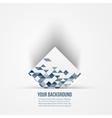 Abstract background 3d logo design vector