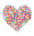 Funny colorful heart shape design vector