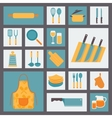 Kitchen and cooking icons set kitchenware and vector