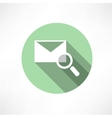 Envelope with magnifying glass icon vector