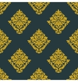 Seamless abstract yellow victorian flowers pattern vector