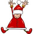 Happy santa claus cartoon vector