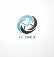 Mail service logo design template vector