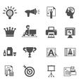 Branding icons black vector