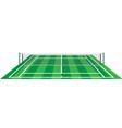 Tennis court with net vector