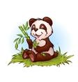 Panda in cartoon style vector