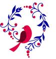Floral bird background vector