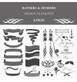 Retro badges design logo template vector