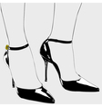 The shoes of an elegant woman vector