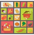 Vegetable icons food set for cooking restaurant vector