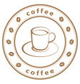 Coffee cup stamp vector