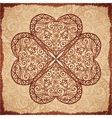 Vintage beige ornate clover background vector