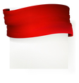 Red waving banner  drawing vector