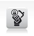 Phone lock icon vector