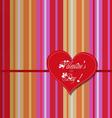 Valentine colourful heart card vector