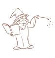 A simple sketch of a wizard vector