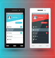 Modern smartphone with email app screen flat vector
