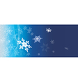 Dark blue banner with snowflakes vector