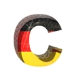 Germany cutted figure c vector