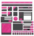 Pink web objects vector