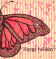 Butterfly holiday vector