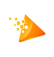 Triangle 3d technology logo vector