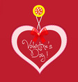 Original valentine card vector