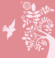 Spring tree and bird vector