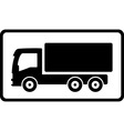 Icon with black islolated truck vector