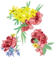 Flower bouquet set vector