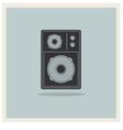 Retro background loudspeaker vector