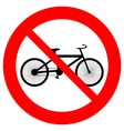 No bike icon vector