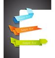 Color edge ribbons vector