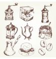 Coffee set vector