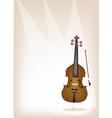 A beautiful double bass on brown stage background vector