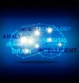 Abstract brain creative idea concept vector