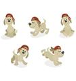Cartoon dog mascot set vector