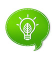 Green speech bubbles with lamp symbol vector