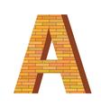 Brick letter a vector