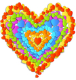 Valentines day card with beautiful rainbow heart vector