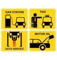 Auto service signs vector