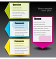 Colorful paper arrows for text vector