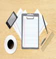 Work accessories on table vector
