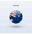 Australia round flag vector