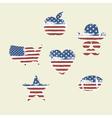 Patriotic symbols composed flag part1 vector