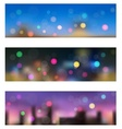 Night in city seamless banners vector